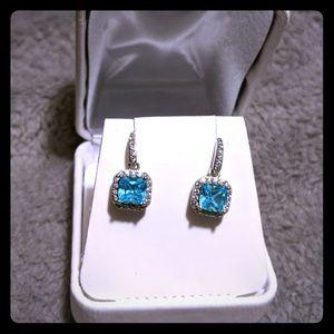 Jewelry - Topaz and cz earrings